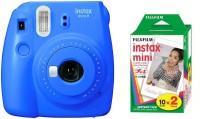 FUJIFILM Instax Mini 9 Cobalt Blue with 20 Shots film Instant Camera(Blue)
