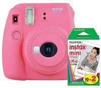 FUJIFILM Instax Mini 9 Flamingo Pink with 20 Shots film Instant Camera(Pink)
