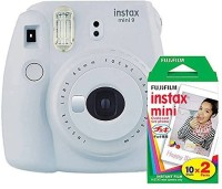 Fujifilm Instax Mini 9 Smokey White With 20 Shots Film Instant Camera(white)