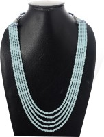 Weldecor Five Layer Color Crystal Beads Necklace Jewellery for Women and Girls Crystal Necklace