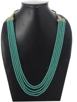 Indoline Five Layer Color Crystal Beads Necklace Jewellery for Women and Girls Crystal Necklace