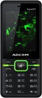 Adcom A221 Dual SIM Mobile Phone | 2.4 Inches Display | Big Powerfull Battery 3000 mAh -(Black Green)