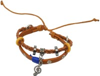 Men Style Leather, Metal Bracelet