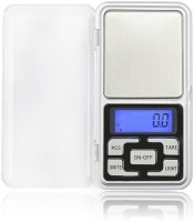 Zelenor Portable Pocket Digital Kitchen and Jewellery Electronic 0.01 g (10 mg) To 200 Grams For Measuring Jewellery Weighing Scale(Silver)