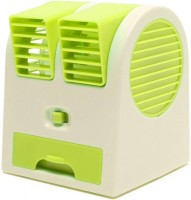 View Rexter Mini Cooling Fan Battery Operated Portable Air Conditioner Cooler Bladeless (Green) Room Air Cooler(Green, 0.5 Litres)  Price Online