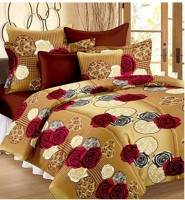 La Roze Home Furnishings 144 TC Microfiber Double Printed Bedsheet(Pack of 1, Multicolor)