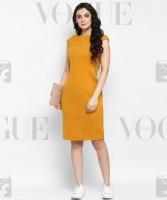 Zima leto Women Bandage Yellow Dress