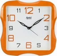 Ajanta Analog 28 cm X 28 cm Wall Clock(Orange, With Glass)