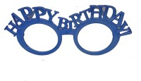 Funcart Fancy Happy birthday blue eyewear without glass ( 1pcs/pack) Party Mask(Blue, Pack of 1)