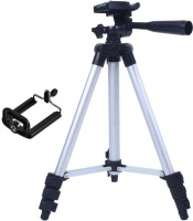 eDUST Camera Tripod Stand With 3-Way Head for Digital Camera Camcorder, Tripod 3110 with mobile Phone holder mount Tripod(Black, Silver, Supports Up to 1500 g)