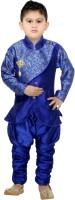 Digimart Boys Festive & Party Kurta and Pyjama Set(Blue Pack of 1)