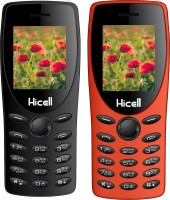 Hicell C1 Tiger Combo of Two Mobiles(Black, Orange)