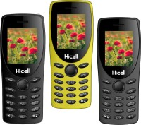 Hicell C1 Tiger Pack of Three Mobiles(Black$$Grey$$Yellow)