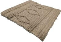 SWHF SWHF Cotton & Wool Knitted Handmade Rug : Natural Indoor Rug Pad(Square)