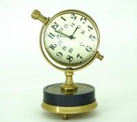 V A Antiques Analog Black and Metallic Copper Clock