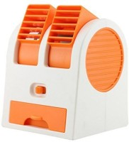 AKSHAT 0.6 L Room/Personal Air Cooler(White, Orange, Plastic Portable Mini Air Cooling Fan with USB Operated for Desk and Office)