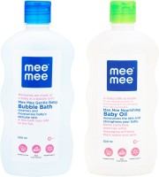 MeeMee Gentle Baby Bubble Bath And Baby Oil with Fruit Extracts (500 ml)(White)