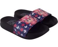 CRYA Boys & Girls Slip On Slipper Flip Flop(Black)
