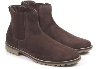 Freacksters Suede Leather Chelsea Boots Boots For Men(Brown)