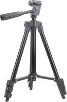 LS-LetsShop Lightweight Tripod for all digital Cameras(SLR/DSLR) & projectors, all Mobile phones Tripod Kit, Tripod 3120 Tripod(Black, Supports Up to 1500 g)