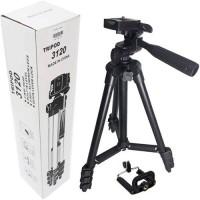 LS-LetsShop Mini Aluminum Alloy Tripod Stand Holder for Camera, Mobile Phone, DSLR Tripod 3120 (Black, Supports Up to 1500 g) Tripod(Black, Supports Up to 1500 g)