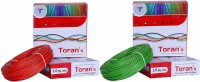 D'mak Toran PVC nsulated Wire 1.0 SQ/MM Single Core Flexible Copper Wires for Domestic/Industrial Electric | Electric Wire | | 1 sq mm Wire | | Electrical... Red, Green 90 m Wire(red,green)
