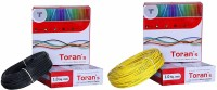 D'mak Toran PVC Insulated Wire 1.0 SQ/MM Single Core Flexible Copper Wires for Domestic/Industrial Electric | Electric Wire | | 1 sq mm Wire | | Electrical Wire | (Black and Yellow,Pack of-2) 1 sq/mm Black, Yellow 90 m Wire(black , yellow)