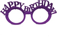 Funcart Fancy Happy birthday purple eyewear without glass ( 1pcs/pack) Party Mask(Purple, Pack of 1)