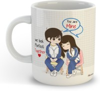 OddClick You Are Mine We Look Perfect Together Printed For Girlfriend, Boyfriend, Husband, Wife, Couples, Boy Gift For BirthDay , Friendship Day , Valentines Day Ceramic Coffee Mug(300 ml)