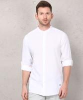Metronaut Men Checkered Casual White Shirt