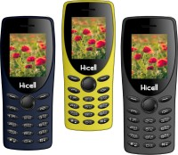 Hicell C1 Tiger Pack of Three Mobiles(Grey$$Yellow$$Blue)