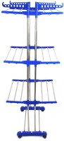 TNC MOST RATED EXTRA STRONG COLLAPSIBLE PURE STAINLESS STEEL CLOTH DRYER STAND,CLOTH DRYING STAND,CLOTH DRYER RACKS ( BLUE ) Stainless Steel, Polypropylene Floor Cloth Dryer Stand(Blue)