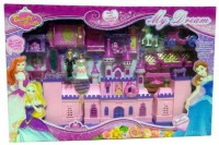 Samaaya Battery Operated My Dream Beauty Castle Play Set Music and Beautiful Lights, Doll House(Multicolor)