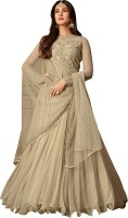 Ethnic Yard Nylon Blend Embroidered Salwar Suit Material(Semi Stitched)