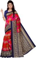 Vimalnath Synthetics Printed Bhagalpuri Art Silk Saree(Pink, Red)