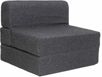 Uberlyfe Sofa Cum Bed - Perfect for Guests - Fabric Washable Cover - Dark Grey| 3' X 6' Feet SCB-001731-BK Single Sofa Bed(Finish Color - Dark Grey Mechanism Type - Fold Out)