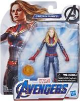 Marvel Avengers Endgame Captain Marvel 6-Inch-Scale Figure(Multicolor)