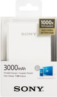 Refurbished Sony 3000 mAh Power Bank (CP-E3, USB Portable Power Supply)(White, Lithium Polymer)