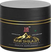 16 Again Raw Ayurvedic Shilajit - 15 gm Natural & Pure(0.015 kg)