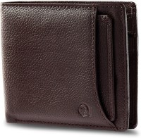 Hidepark Men Casual Brown Genuine Leather Wallet(6 Card Slots)
