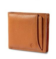 Hidepark Men Casual Tan Genuine Leather Wallet(6 Card Slots)