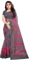 JSItaliya Embroidered Fashion Net Saree(Grey)