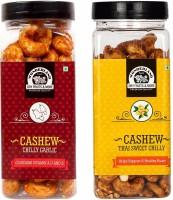 WONDERLAND Foods (Device) Chilli Garlic & Thai Sweet Chilli Cashews Nut Pack of 2 (150g Each) Cashews(2 x 150 g)