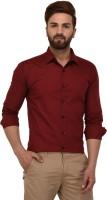 Deeksha Clothing Men Solid Casual Maroon Shirt