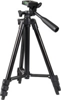 Qsa Collection 3120 Tripod Stand With 3-Way Head Light Weight for Camera with mobile Tripod (Silver, Supports Up to 1500) Tripod(Black, Supports Up to 700 g)