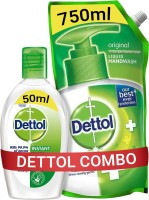 Dettol Original Liquid Hand Wash Refill with Instant Sanitizer(2 Items in the set)