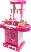 Miss & Chief Luxurious Kitchen Play Set with Accessories, Light and Music Toy for Kids