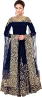 Fashion Basket Poly Silk Embroidered Salwar Suit Material(Semi Stitched)