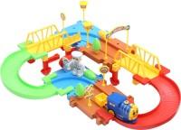Miss & Chief Battery operatedBlock Train Track set 38pcs(Multicolor)