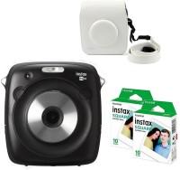 FUJIFILM Instax Sq10 with white case 20 Shots Instant Camera(Black)